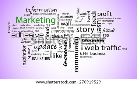 Word cloud. Marketing concept - stock photo