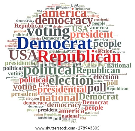 Word cloud on elections Republican and Democrat