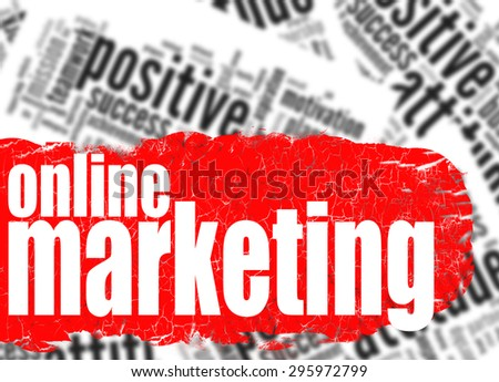Word cloud online marketing image with hi-res rendered artwork that could be used for any graphic design. - stock photo