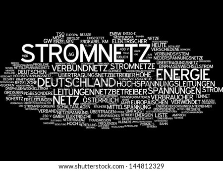 Word cloud -  power supply