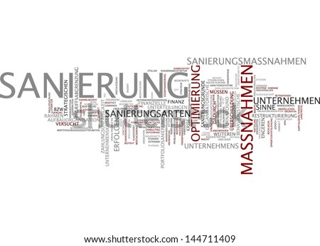 Word cloud -  reconstruction - stock photo