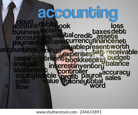 word cloud related to accounting written by businessman
