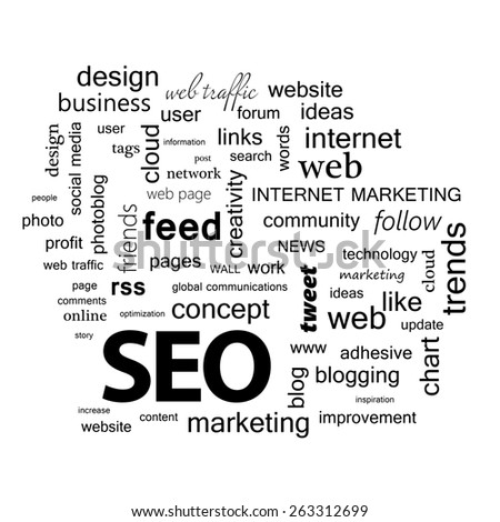 Word cloud. SEO concept - stock photo