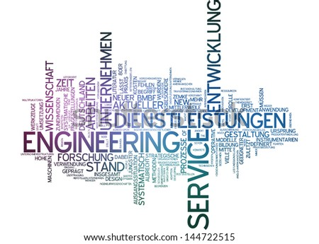 Word cloud -  service engineering