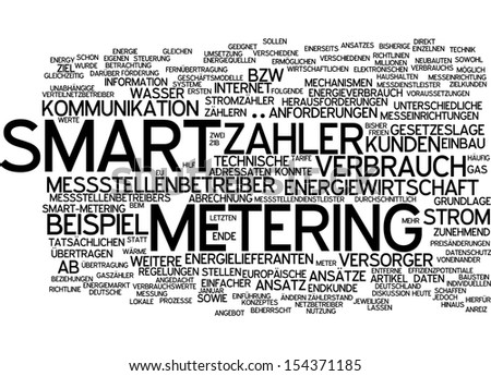 Word cloud - smart meter