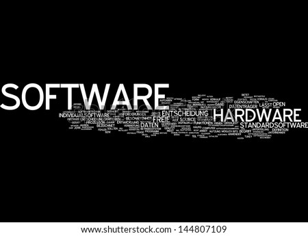 Word cloud -  software - stock photo