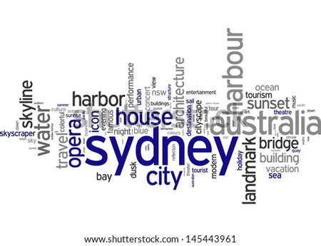 Word cloud - Sydney