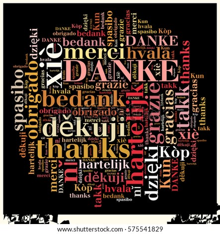 "Word Cloud ""Thanks"" in different Languages"