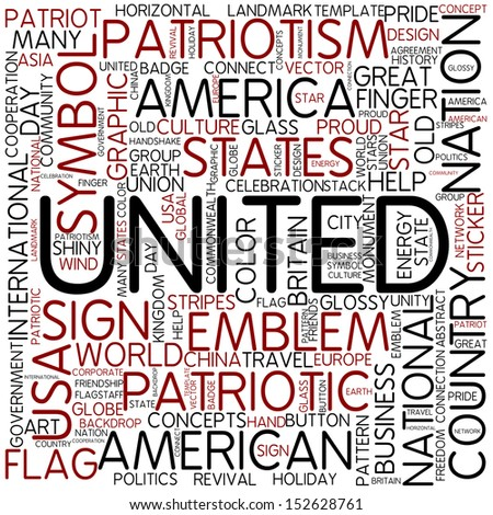 Word cloud - united - stock photo