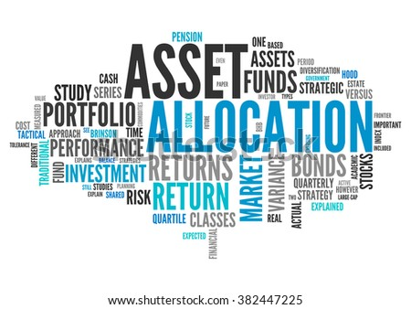 Word Cloud with Asset Allocation related tags - stock photo