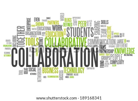 Word Cloud with Collaboration related tags