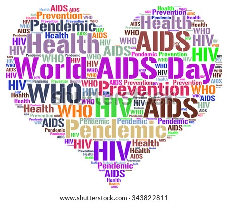 Word cloud with concept of World AIDS Day - 1st December.