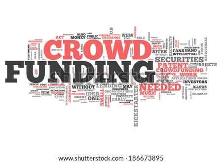 Word Cloud with Crowd Funding related tags - stock photo