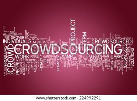 Word Cloud with Crowdsourcing related tags - stock photo
