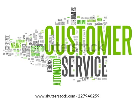 Word Cloud with Customer Service related tags - stock photo