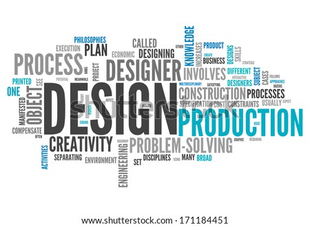 Word Cloud with Design related tags