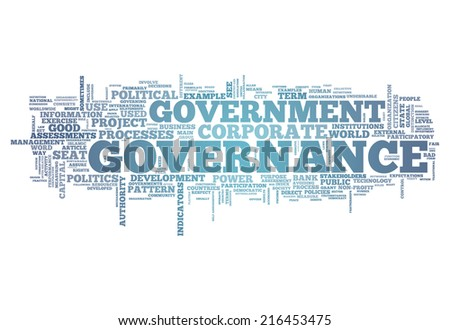 Word Cloud with Governance related tags - stock photo