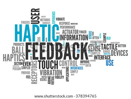 Word Cloud with Haptic Feedback related tags