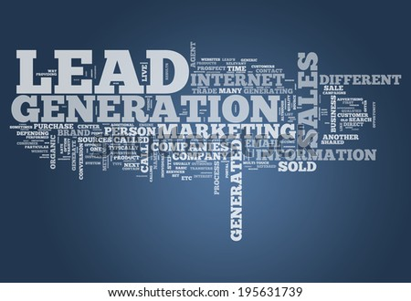 Word Cloud with Lead Generation related tags - stock photo