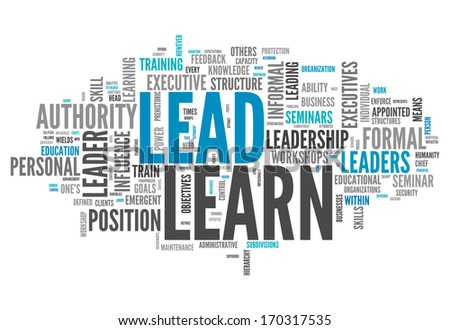 Word Cloud with Learn and Lead related tags