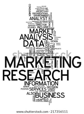 Word Cloud with Marketing Research related tags - stock photo