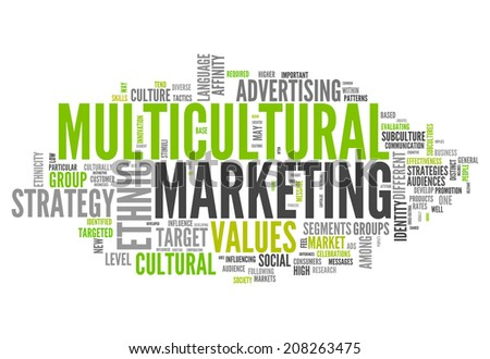 Word Cloud with Multicultural Marketing related wording