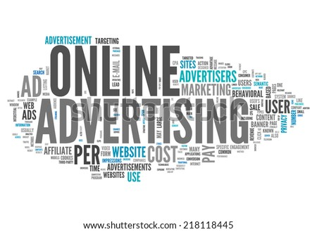Word Cloud with Online Advertising related tags - stock photo