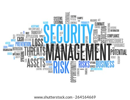 Word Cloud with Security Management related tags - stock photo