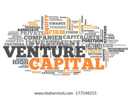 Word Cloud with Venture Capital related tags - stock photo