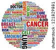word collage about cancer - stock photo