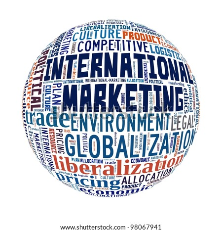 Word Collage on International Marketing