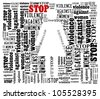 Word Collage on Stop Violence Against Women - stock photo