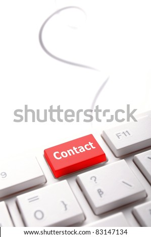 word contact us on red keyboard key