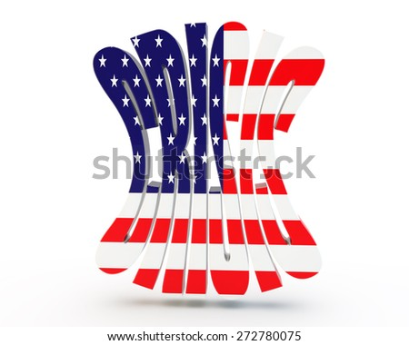 "word ""crisis"" with the American flag - stock photo"