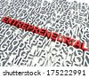 Word Entrepreneurial in red, salient among other related keywords concept in white. 3d render illustration. - stock photo
