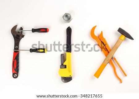 word fix made of tools - stock photo