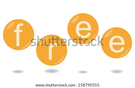 Word free in bubbles - stock photo