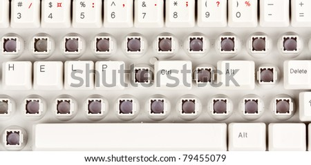 word help, and Ctrl + Alt + Delete on the keyboard partially disassembled