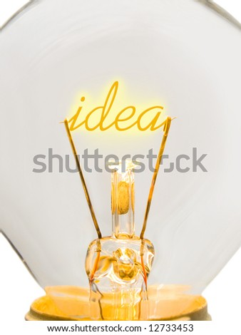 Word Idea in lamp, technology concept - stock photo