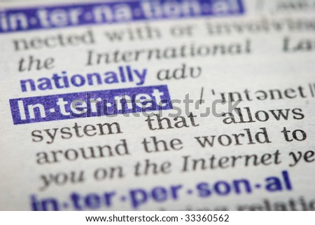 word internet in dictionary - stock photo