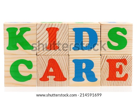 Word kids care - stock photo