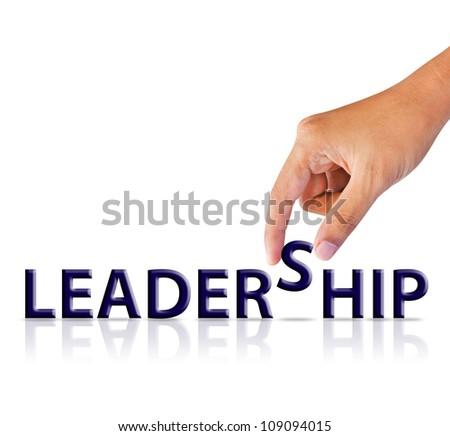 word Leadership - stock photo