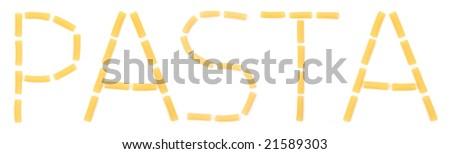 word made with macaroni - stock photo