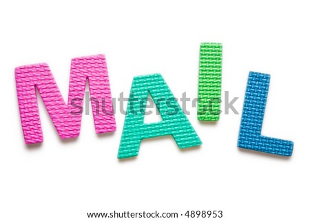 Word MAIL isolated on the white background - stock photo