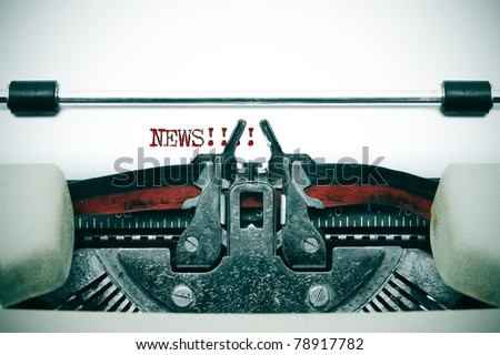 word news written in an ancient typewriter - stock photo