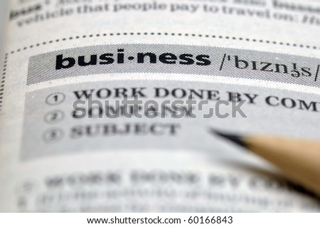 Word of business. - stock photo