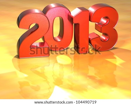 Word 2013 on yellow background (high resolution 3D image) - stock photo