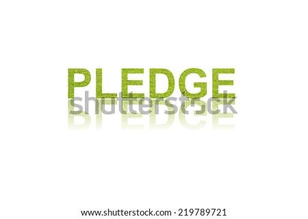 word PLEDGE in double exposure  - stock photo