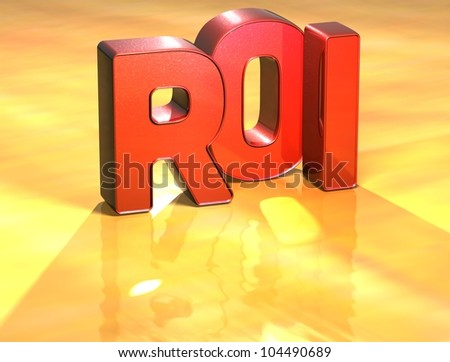 Word Roi on yellow background (high resolution 3D image) - stock photo