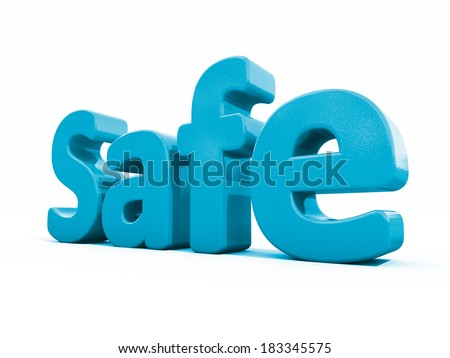 Word safe icon on a white background. 3D illustration.